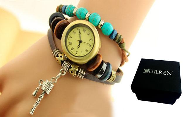 21e5b8ec37e7 San Borja  Set de 3 relojes pulsera vintage en cuero para dama ...